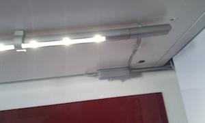 Schalter und Kabel vom Traffo zur Leuchte